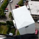 Container in der Luft