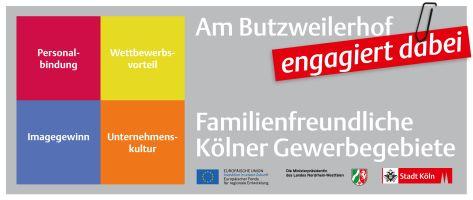 Familienfreundliches Gewerbegebiet Butzweilerhof Köln Ossendorf Auszeichnung
