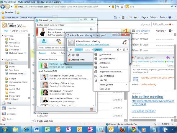Microsoft-Tools als UC-Beispiel: Alle Kommunikationsbelange lassen sich über eine einzige Oberfläche abwickeln. Quelle: Microsoft.