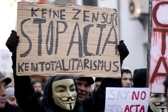 Anti ACTA Demonstration am 11.02.2012 in Düsseldorf