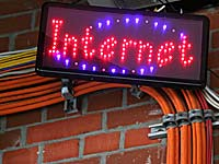 Symbolfoto von der re:publica: Das Internet am Kabel