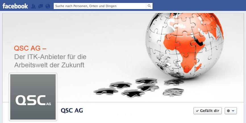QSC auf Facebook