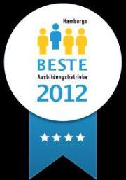 Vier Sterne für die gute Ausbildung bei der INFO AG. Auszeichnung als einer der Top-Ausbilder in Hamburg.
