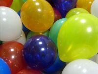 Viele bunte Luftballons zum Blog-Jubiläum.