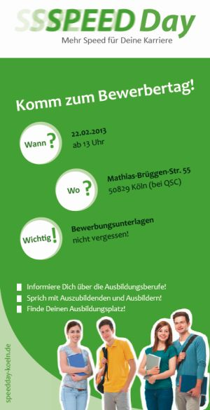 Ausbildungs-Speed-Day am 22. Februar 2013 bei QSC in Köln.