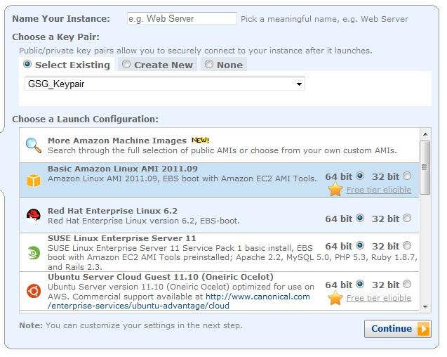 Per Mausklick zum Server: Die Server-Bestellung bei Amazon funktioniert per Mausklick. Quelle: Amazon.