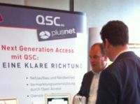 Next Generation Access: Messestand von QSC.