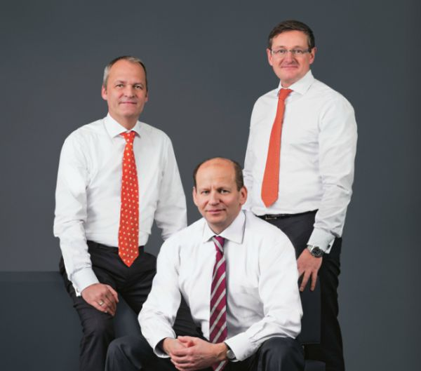 Vorstand der QSC AG bis zur HV 2013 (v.l.n.r.): Arnold Stender, Dr. Bernd Schlobohm und Jürgen Hermann.