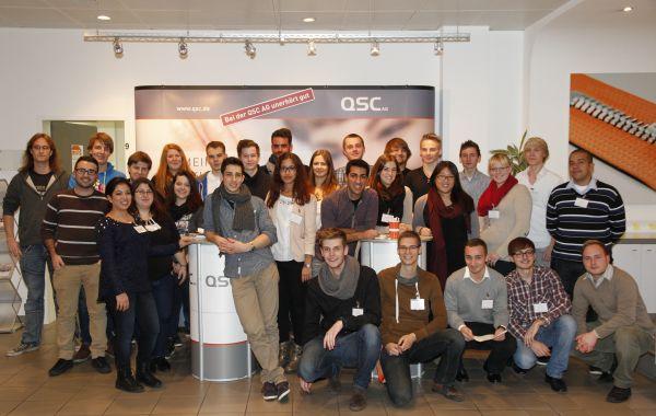 Den Speed Day zu organisieren, gehört zu den Aufgaben des zweiten Azubi-Jahrgangs bei QSC in Köln. Einige Kollegen aus anderen Jahrgängen halfen ebenfalls gerne mit.