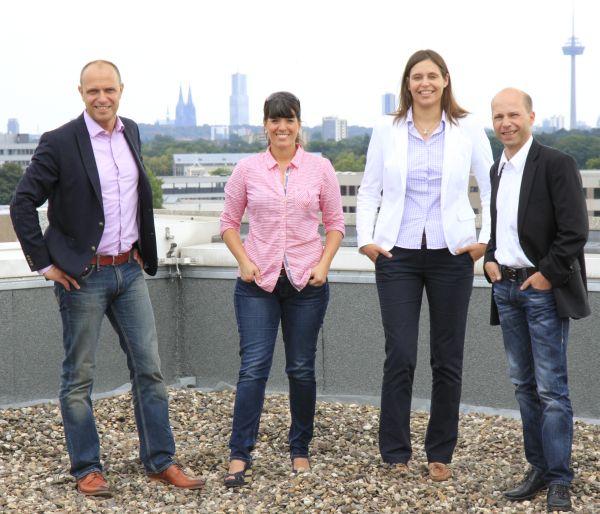 Peter Frankenberg und sein Team im QSC-Vertriebsbereich Wiederverkäufer (v.l.n.r.): Peter Frankenberg, Elke Jülich, Janna Schladitz, Dirk Fricke.