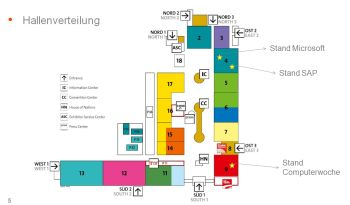 CeBIT 2014: Hallenplan für Ihre Besuche auf den QSC-Ständen. Zum Vergrößern bitte anklicken.