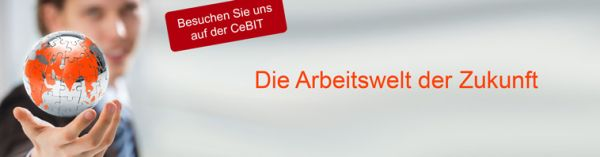 QSC präsentiert auf der CeBIT 2014 die Arbeitswelt der Zukunft.