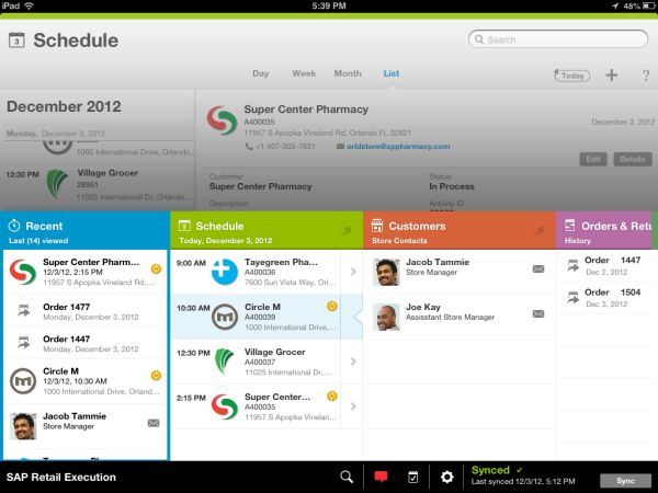 Screenshot für SAP Mobile