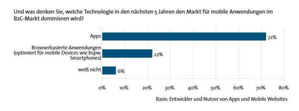 Kundenbezogene Aktivitäten dominieren mobile Websites. Quelle: BITKOM.