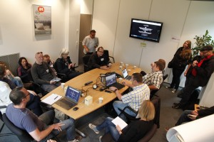 """""""Pageflow"""", das bildgewaltige Storytelling-Tool des WDR war auch Thema beim #barcampkoeln. Foto: Dennis Knake/QSC AG"""