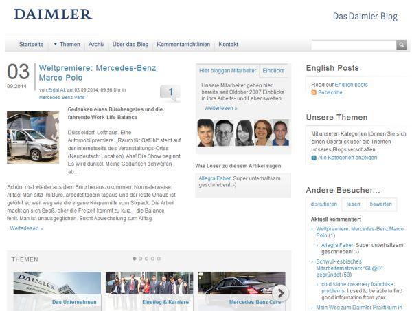 Das Corporate Blog von Daimler.