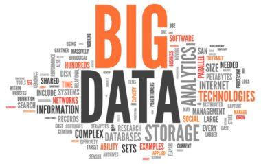 Tag-Wolke mit Big-Data-Begriffen