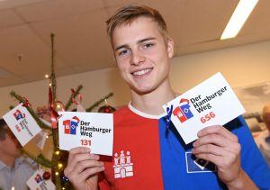 Finn Porath Hamburg, 22.11.2016, Fussball, Hamburger SV, Weihnachtstag Der Hamburger Weg, OSC AG Weidestrasse
