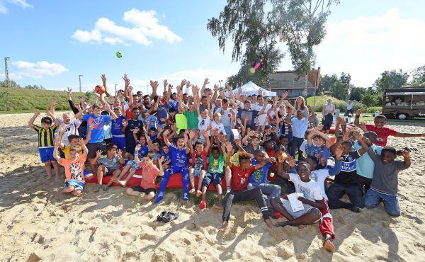 Gruppenfoto Hamburg, 30.08.2016, Fussball, Hamburger SV, Der Hamburger Weg, Freekick, Abschlussevent im Inselpark Wilhelmsburg