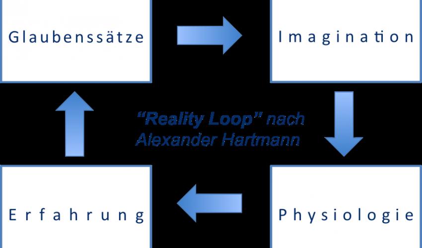 """Schaubild zu Alexander Hartmanns """"Reality Loop"""""""