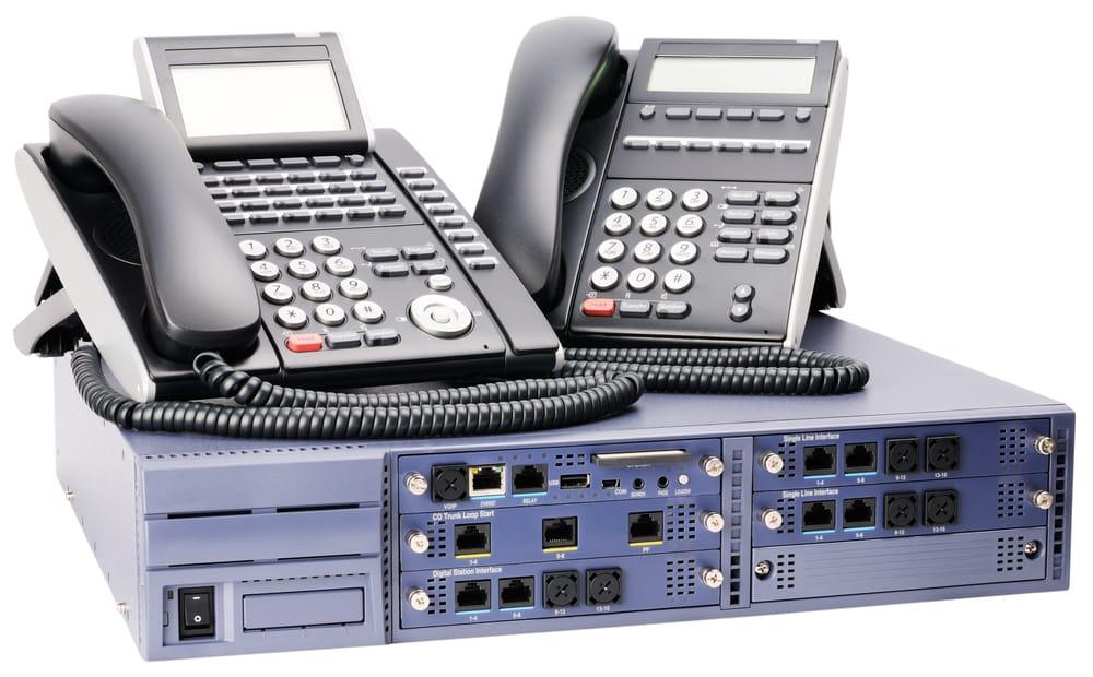 TK-Anlage mit Festnetztelefonen
