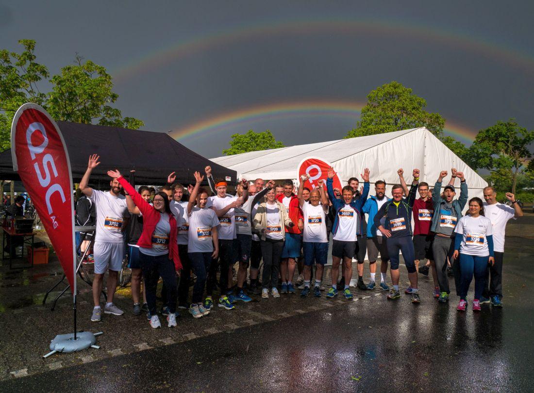 QSC-Team beim Firmenlauf Köln 2018. Foto: © QSC AG.
