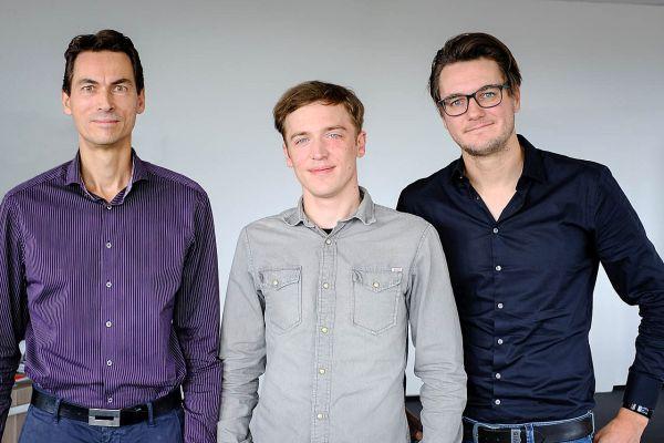 Produktmanagement Cloud-Telefonie der QSC AG: Frank Pingel, Fabian Zürz und Oliver Schäferhoff. Foto: © QSC AG