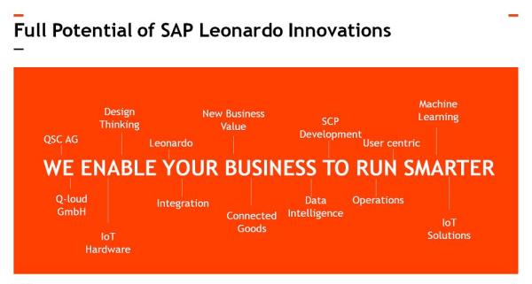 SAP Leonardo: Der Werkzeugkasten der Digitalisierung. Abbildung: © Lukas Aliger / QSC AG