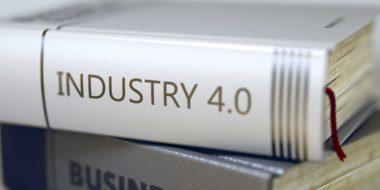 """Buchrücken mit der Aufschrift """"Industry 4.0"""""""
