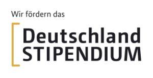 """BMBF-Logo """"Wir fördern das Deutschlandstipendium"""""""