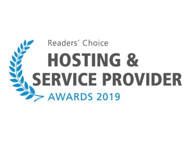 Hosting & Service Provider Awards 2019 - Logo. Quelle: Vogel IT-Medien.