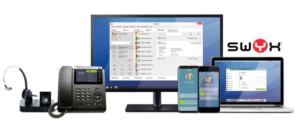 Abgestimmte Hardware für die Swyx-Telefonanlage von Plusnet. Bild: © Swyx Solutions GmbH.