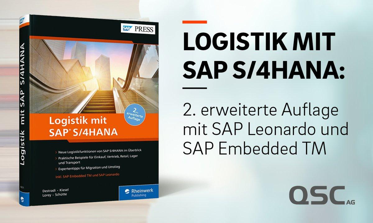 Logistik mit SAP S/4HANA: Das von QSC-Mitarbeiterinnen und -Mitarbeitern verfasste Buch zählte schon in der 1. Auflage zu den Bestsellern der SAP-Press-Reihe des Rheinwerk-Verlags. Buchcover: © Rheinwerk-Verlag.