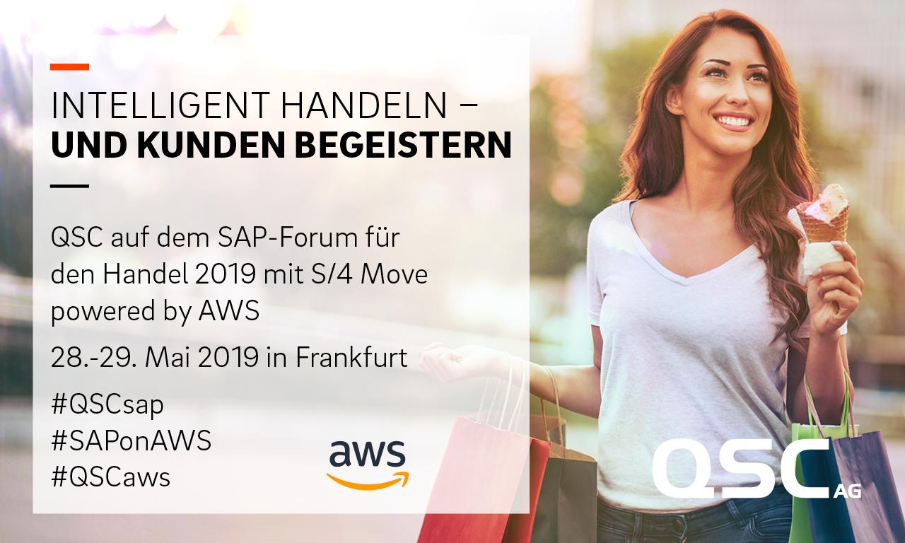 SAP Forum Handel 2019 - Teaser der QSC AG. Bild: © QSC AG.