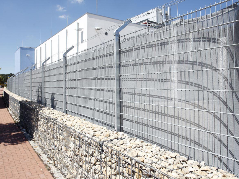Zaun des QSC-Rechenzentrums Nürnberg.