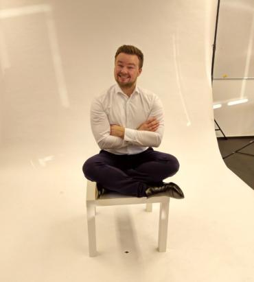 Artur Heidt. Fotoshooting für die Arbeitgebermarke der QSC AG. Bild: © Catherine Castin / QSC AG.
