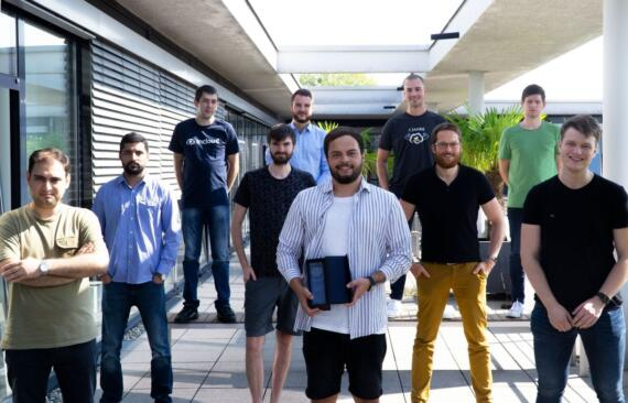 Gewinner-Team von Incloud: Die q.beyond-Tochter hat den St. Gallen Mobile Business Award erhalten. Bild: © Incloud GmbH.