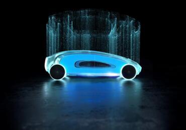 Futuristisches e-Auto